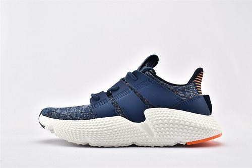 Adidas 三叶草 Prophere 复古跑鞋/刺猬 蓝白 原盒原标  货号:AQ1026  男女鞋  情侣款