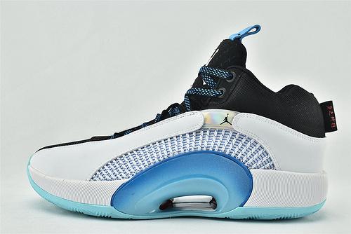 Air Jordan Jordan XXXV AJ35 乔丹35代篮球鞋/黑白蓝 蒂芙尼  纯原版  货号:DA2625-103    男鞋