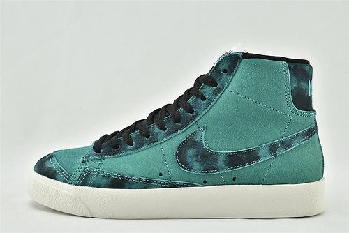 Nike Blazer Mid QS HH 高帮滑板鞋/扎染绿 翻毛皮  货号:DA7575-991  男女鞋  情侣款