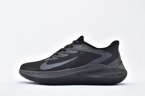 Nike Zoom Winflo 7 登月7代跑步鞋/全黑 镭射  货号:CJ0291-078  男鞋