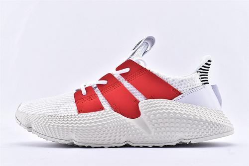 Adidas Prophere 复古跑鞋/刺猬 白红 货号:FU9263  男女鞋  情侣款