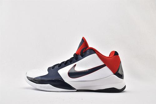 Nike Kobe 5 Lakers 科比5代 低帮篮球鞋/白蓝红 世锦赛  灭世版  货号:386430-103  男鞋