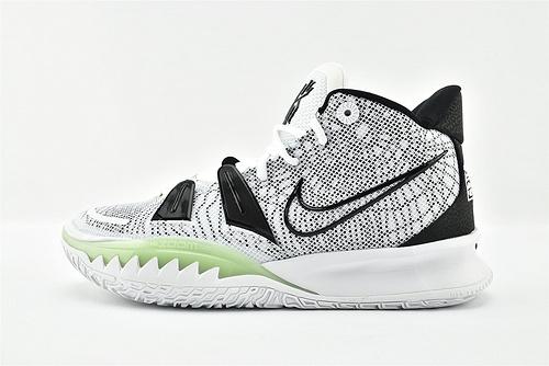 Nike Kyrie 7 Tokyo 欧文7代中帮篮球鞋/白黑绿  货号:CQ9327-100  男鞋