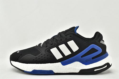 Adidas 三叶草 DAY JOGGER boost 夜行者2.0缓震跑鞋/黑白 经典 3M反光版  货号:FW4052    男女鞋  情侣款