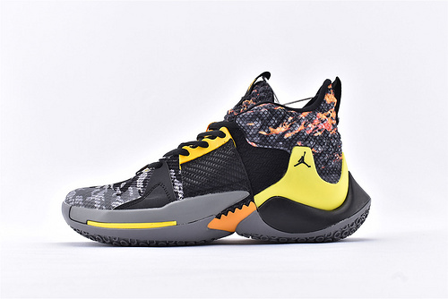 Jordan Why Not Zer0.2 PF 威少2代篮球鞋系列/黑橙   实战无忧 内置缓震气垫  货号:BV6352-002  男鞋