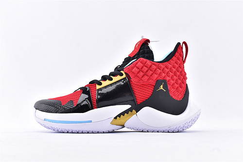 Jordan Why Not Zer0.2 PF 威少2代篮球鞋系列/全明星 黑红  实战无忧 内置缓震气垫   货号:BV6352-600  男鞋
