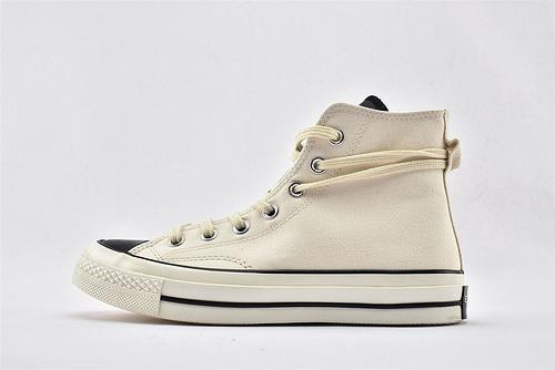 CONVERSE/匡威 x 1970s Fear of God FOG 联名高帮滑板鞋/米白黑 拼色   过验版  货号:167955C  男女鞋  情侣款