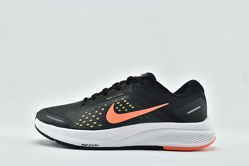 Nike Air Zoom STRUCTURE 登月23代运动跑鞋/黑橙  货号:CZ6720-006  男女鞋  情侣款
