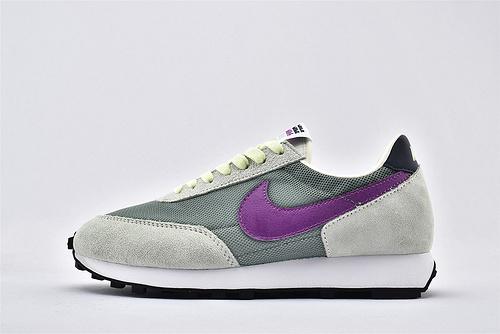 Nike Daybreak 华夫复古跑鞋/网面 浅灰绿紫钩 鸳鸯  货号:CQ6358-300   男女鞋  情侣款