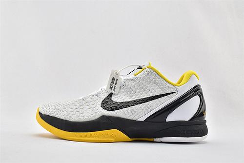 Nike Kobe 6 Lakers 科比6代 低帮篮球鞋/黑白黄 拼色  货号:CW2190-100    男鞋