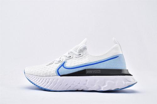 Nike 2020年新款 REACT INFINITY RUN 瑞亚3.0跑鞋/白蓝黑  货号:CD4372-101  男女鞋  情侣款