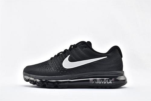 Nike Air Max 2017 全掌气垫运动跑鞋/黑银 3M反光logo  货号:849559-001  男女鞋  情侣款