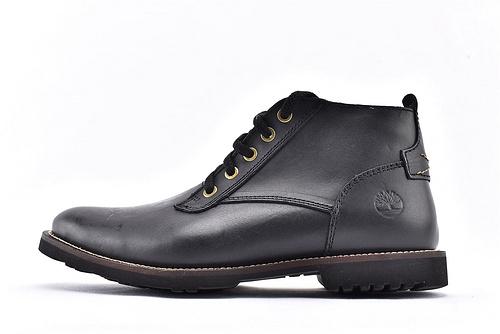 卡特/CAT 2019美版中帮复古皮靴/经典黑色 英伦风  男鞋