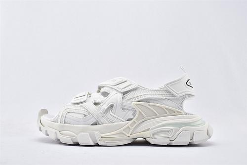 Balenciaga/巴黎世家 3.0 ins复古老爹凉鞋/纯白 海外版   纯原版  男女鞋  情侣款