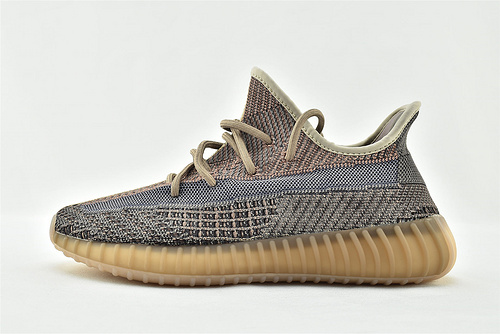 Adidas BOOST yeezy 350 V2 Sesame 椰子系列/蓝棕 褪色 巧克力 侧镂空【内加Boost 爆米花球一个】  货号:H02795  男女鞋  情侣款
