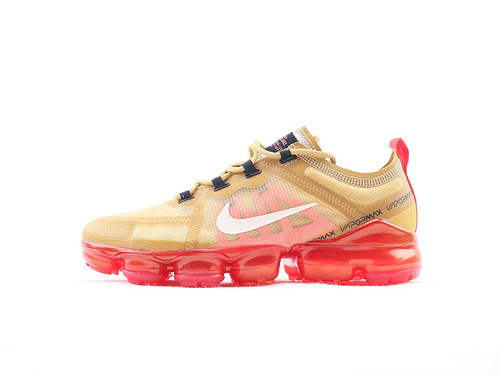 Nike air VaporMax Run Utility2019款全掌气垫缓震跑鞋/沙漠黄 红底  货号:AR6631 701  男鞋