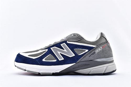 New Balance 新百伦M990GA4复古高端美产总统慢跑鞋/ 灰蓝 3M反光版 原盒原标 余文乐代言  男女鞋  情侣款