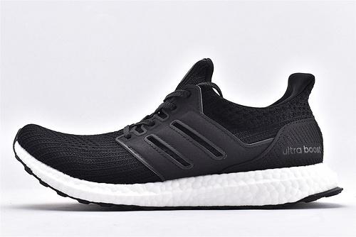 Adidas Ultra Boost UB19 爆米花缓震跑鞋/黑白经典 原装版  货号:EH1422  男鞋