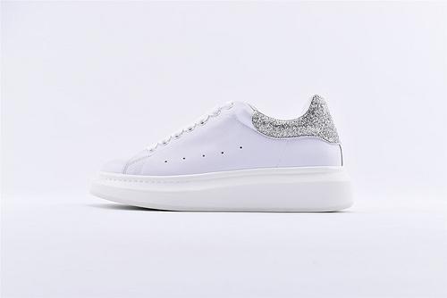 Alexander McQueen/亚历山大麦昆 2019最新上市 松糕鞋厚底增高小白鞋/全头层  男女鞋  情侣款