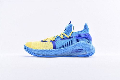 Under Armour Curry 6 安德玛库里6代篮球鞋/蓝黄 夹克 随意实战  货号:3020612-300  男鞋