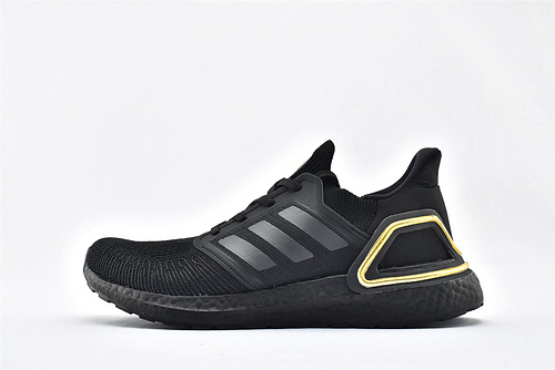 Adidas ULTRA BOOST UB 20 米花缓震跑鞋/黑金  货号:EG0754  男鞋
