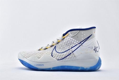 Nike ZOOM KD12 EP 杜兰特12代高端篮球鞋/白蓝【实战版】纯原版  货号:AR4230-100  男鞋