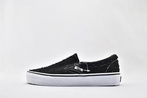 Vans/万斯 Sip-On Pro 低帮滑板鞋/一脚蹬  黑白 做旧 硫化底 原标原盒   男女鞋  情侣款