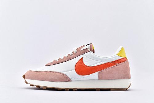Nike Daybreak 华夫轻量跑鞋/粉白红钩 原盒原标 市场版本 随意对比  货号:CK2351-600  女鞋