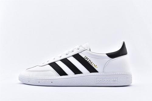Adidas 三叶草 HANDBALL SPZL 2020新春经典板鞋/黑白  货号:BD3669  男女鞋  情侣款
