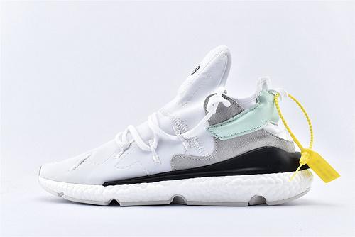 Adidas Y-3 SAIKOU BOOST 三本耀司老爹鞋/全白 爆米花缓震大底  货号:F97317  男鞋
