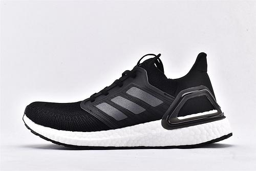 Adidas Ultra Boost UB20 爆米花5.0缓震跑鞋/黑白  货号:EF0701  男女鞋  情侣款