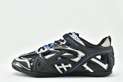 Balenciaga/巴黎世家  BALENCI AGA Drive 复古老爹鞋/2020秋冬新款 上市发售 海外版 黑银蓝 拼色  男女鞋  情侣款