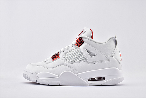 Air Jordan 4 AJ4 Rasta乔丹4代篮球鞋/白红  纯原版  货号:CT8527-112  男鞋