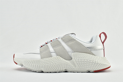 Adidas 三叶草 Prophere 2020新款复古跑鞋/刺猬 白灰红 拼色 原盒原标   货号:FW4260   男女鞋  情侣款