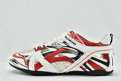 Balenciaga/巴黎世家  BALENCI AGA Drive 复古老爹鞋/2020秋冬新款 上市发售 海外版 白黑红拼色  男女鞋  情侣款