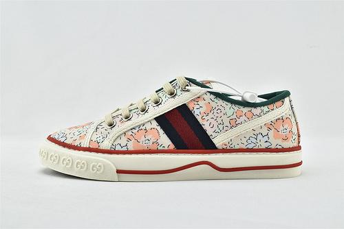 Gucci/古驰 2021新款发售 经典帆布板鞋/花卉 发售  版  女鞋