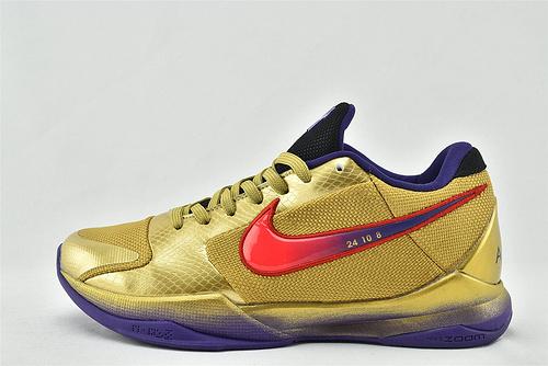 Nike Kobe 5 Lakers 科比5代 低帮篮球鞋/黄金紫红 鸳鸯  尺码:DA6809-700   男鞋