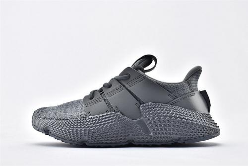 Adidas 三叶草 Prophere 复古跑鞋/刺猬 铁灰 全灰色 原盒原标  货号:AC8703 男女鞋 情侣款