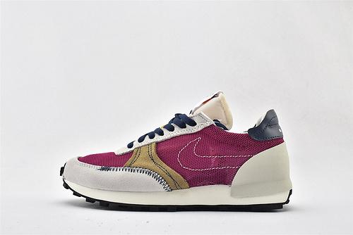 Nike DBREAK-TYPE 华夫款网面跑鞋/灰白紫  货号:CW7566-500  男女鞋 情侣款