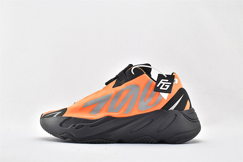 Adidas Yeezy 700 V3 椰子复古老爹鞋系列/黑橘 款 3M反光版  纯原版  货号:FV3258  男女鞋  情侣款
