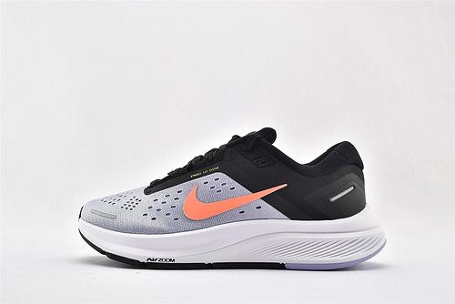 Nike Air Zoom STRUCTURE 登月23代运动跑鞋/黑白灰 橙色 拼接  货号:CZ6721-500  女鞋