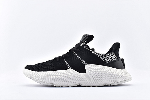 Adidas 三叶草 Prophere 复古跑鞋/刺猬 黑白拼色 原盒原标  货号:CG6485  男女鞋  情侣款