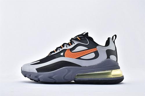 "Nike Air Max 270 React ""BAUHAUS"" 半小掌气垫气垫跑鞋/黑灰橘 拼色 泡棉   芯片版 货号:CD2049-006 男鞋"