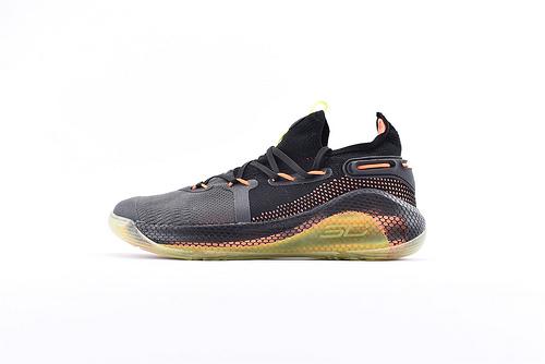 Under Armour Curry 6 安德玛库里6代篮球鞋/黑橙 荧光绿 随意实战   货号:3020415-004  男鞋