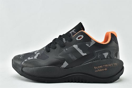 Adidas 三叶草 ZXALKYNEBoost 2020新款爆米花跑鞋/黑迷彩 【180款】 原装版  货号:QZ8913  男女鞋  情侣款