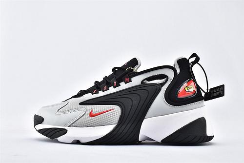 Nike Zoom 2K 复古老爹跑鞋/浅灰黑 内置气垫缓震 原标原盒  货号:AO0269-010  男鞋