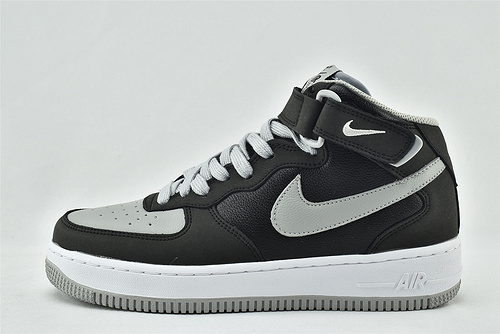 Nike Air Force 1 空军一号/中帮 黑灰影子 秋冬新款  货号:854851-067   男女鞋  情侣款