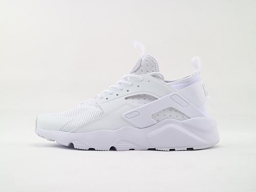 Nike Air Huarache Run Ultra 华莱士4.0系列跑鞋/全白 经典款  货号:819685 101  男女鞋  情侣款