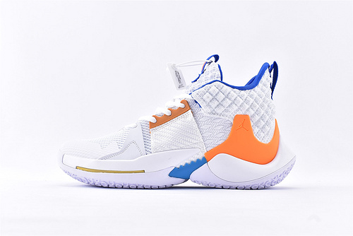 Jordan Why Not Zer0.2 PF 威少2代篮球鞋系列/白橙  实战无忧 内置缓震气垫  货号:BV6352-100  男鞋