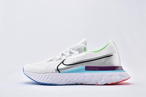 Nike 2020年新款 REACT INFINITY RUN 瑞亚3.0跑鞋/白蓝紫  货号:CD4372-102  男女鞋  情侣款
